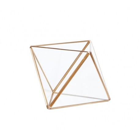 Terrario de cristal y latón