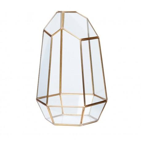 Terrario Geométrico mediano en latón y cristal