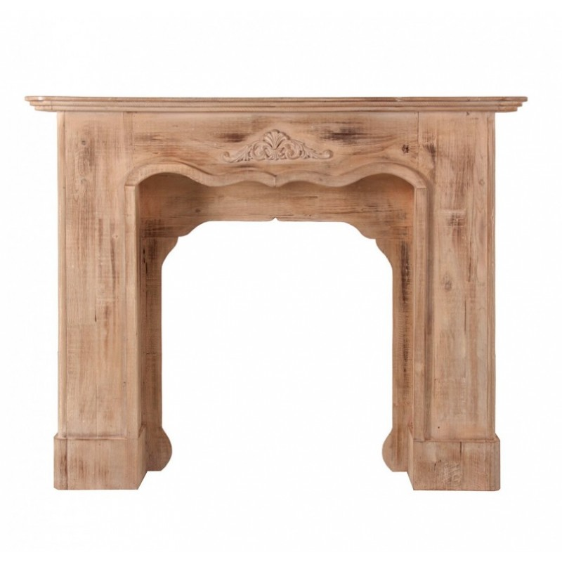 Cubre chimenea en madera natural for Chimeneas de madera
