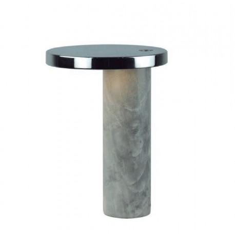 Lámpara de sobremesa Led, Mármol y metal