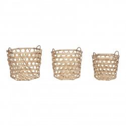 Set 3 cestas de Bambú