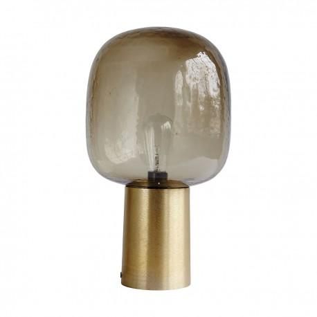 Lámpara Note de cristal y latón