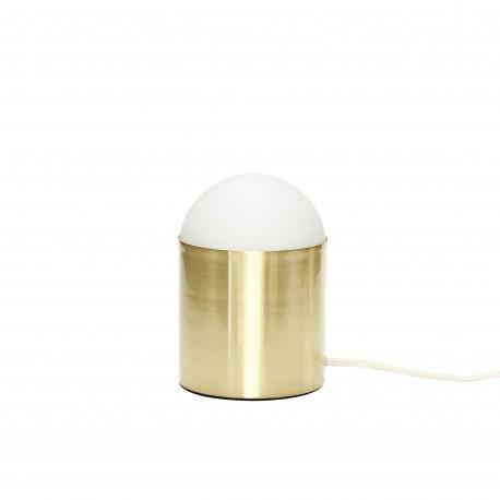 Lámpara de sobremesa latón y cristal HÜBSCH