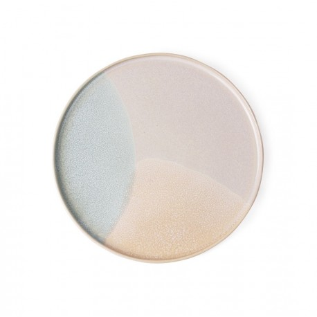 Gallery ceramics: set of 2 round side plate mint/nude