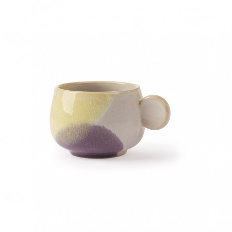 Gallery ceramics: Set of 2 coffee cup Yellow / Lilac