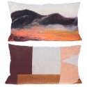 Printed cushion painted mountain 35 x 60 cm.