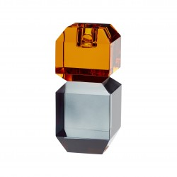 Candelabro de Cristal Fumé / Naranja de HUBSCH