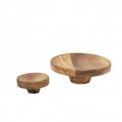 Set 2 colgadores Madera de Acacia de HUBSCH