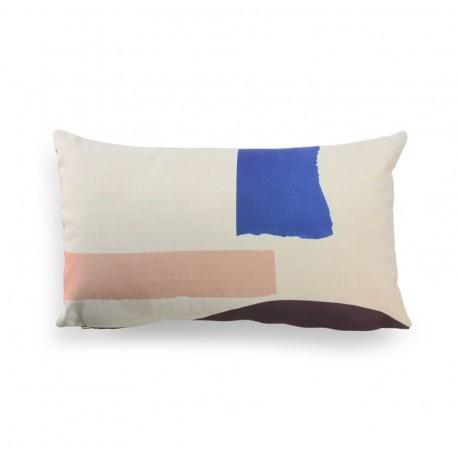 Printed cushion Cojín estampado abstract HK Living