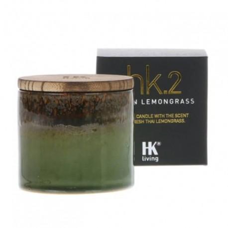 Vela Hk.2 ceramic soy candle Asian Lemongrass, HK Living