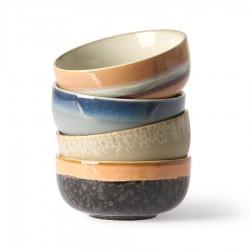 Set 4 Bowls Ceramic 70´s medium HK Living