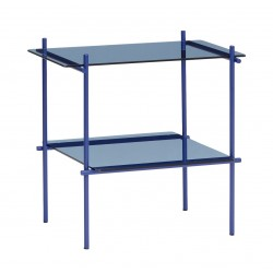 Mesa auxiliar rectangular Azul, Hübsch
