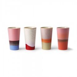 Vaso alto cerámica 70 SET de 4, HK Living