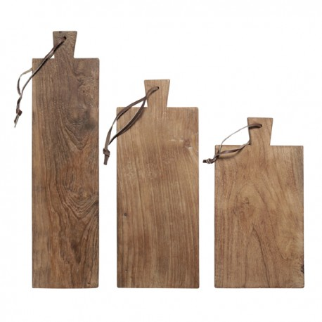 Set 3 Tablas en madera de TEKA