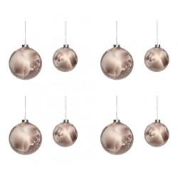 Bolas de Navidad Marrón, Set 8, Hübsch