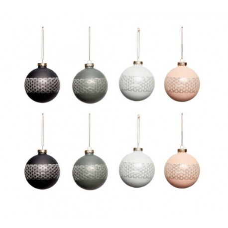 Bolas de Navidad, 4 colores, Set 8