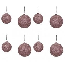 Bolas de Navidad Textura púrpura, Set/ 8
