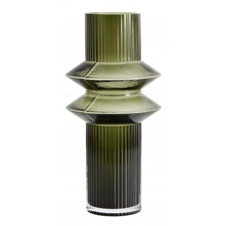 Jarrón RILLA cristal Verde claro S, NORDAL