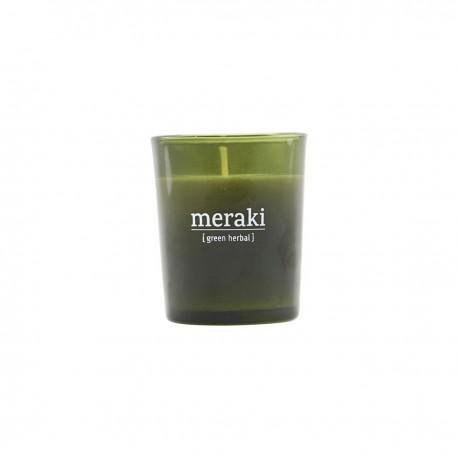 Vela aromática, Green herbal pequeña, Meraki