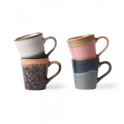 70s ceramics: tazas espresso (set de 4)