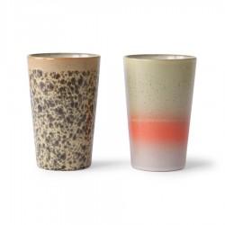 70s ceramics: tea mugs (set of 2), HK Living