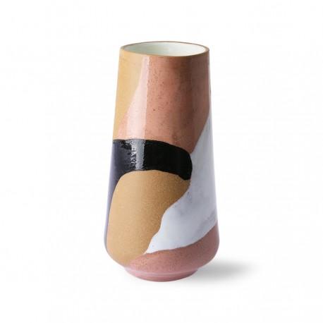 Jarrón Hand painted ceramic flower vase, HK Living