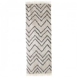 Alfombra cotton zigzag runner (75x220), HK Living