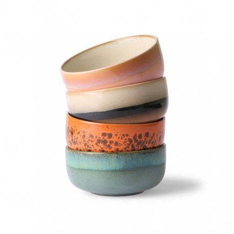 70s ceramics: dessert bowls (set of 4), HK Living