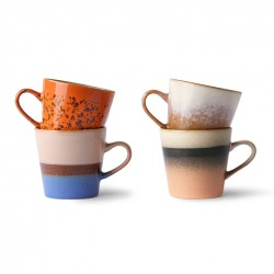 70s ceramics: americano mugs (set of 4)