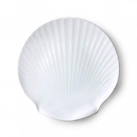 SET 2 Bandeja Athena ceramics: bone china shell serving tray, HK Living