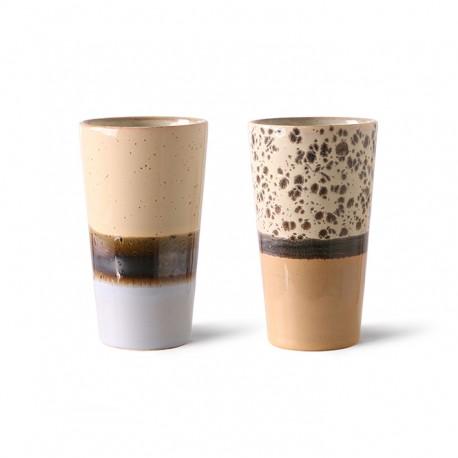 70s ceramics: latte mugs (set of 2), Hk Living