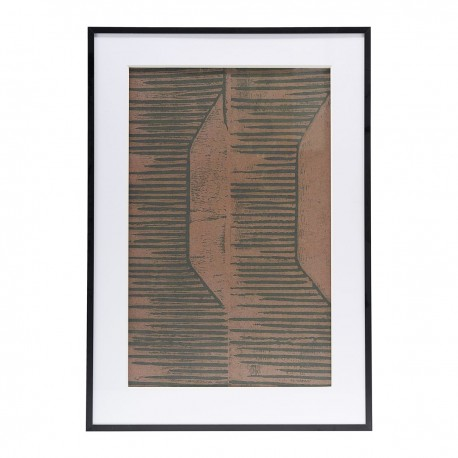 Illustration w. frame, FIELDS II, red/brown, House Doctor