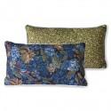 Doris for hkliving: printed cushion blue (35x60)