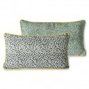 Doris for hkliving: printed cushion green (35x60)