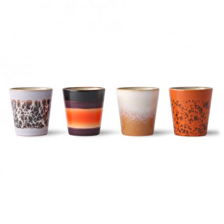 70s ceramics: ristretto mugs (set of 4)