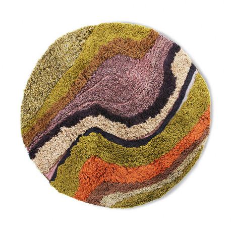 round tufted rug gradient (150), HK Living