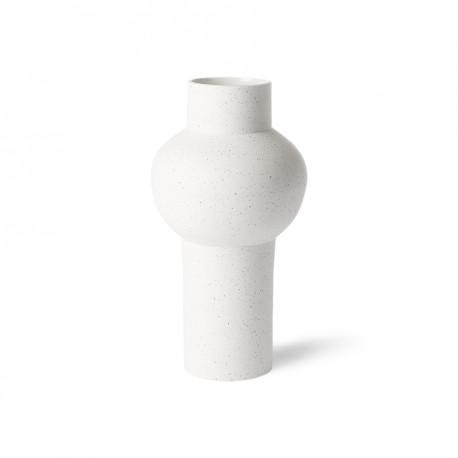 Speckled clay vase straight M, HKLiving