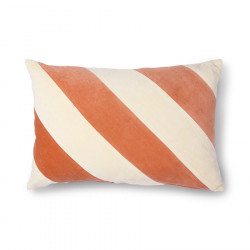 Striped cushion velvet peach/cream (40x60) HKLiving
